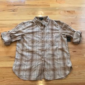 Lauren Ralph Lauren plaid cotton shirt Sz XL